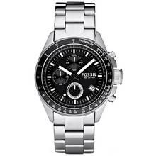 Fossil Decker Men's Silver Steel Chronograph Watch