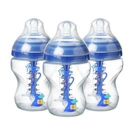 Tommee Tippee Advanced Anti-Colic Blue Bottles - 260ml x 3