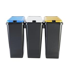 Argos Home 45 Litre Trio Recycle Bin - Black