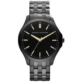 Armani Exchange Men's Black Stainless Steel Bracelet Watch
