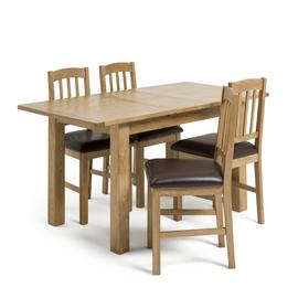 Habitat Ashwell Oak Veneer Extending Table & 4 Chairs