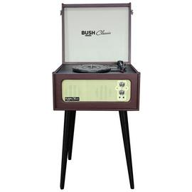 Bush Classic Record Player with Legs - Brown