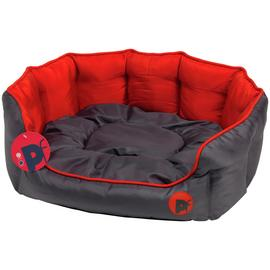 Petface Red Oxford Dog Bed - Medium