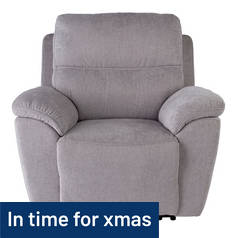 Argos Home Sandy Power Recliner Chair - Silver
