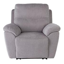 Argos Home Sandy Fabric Power Recliner Chair - Silver