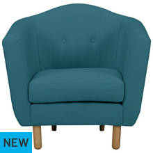 Argos Home Elin Fabric Chair - Teal