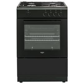 Bush BGC60SB 60cm Single Oven Gas Cooker - Black