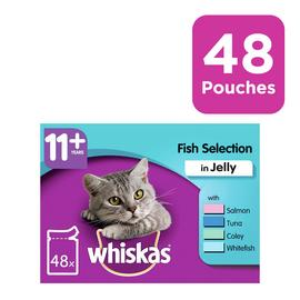 Whiskas 11+ Senior Cat Food Fish in Jelly 48 Pouches