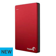 Seagate BUP 2TB Slim Portable Hard Drive - Red