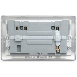 BG 2 Gang Sockets with 2 X USB 3.1 Sockets - Stainless Steel