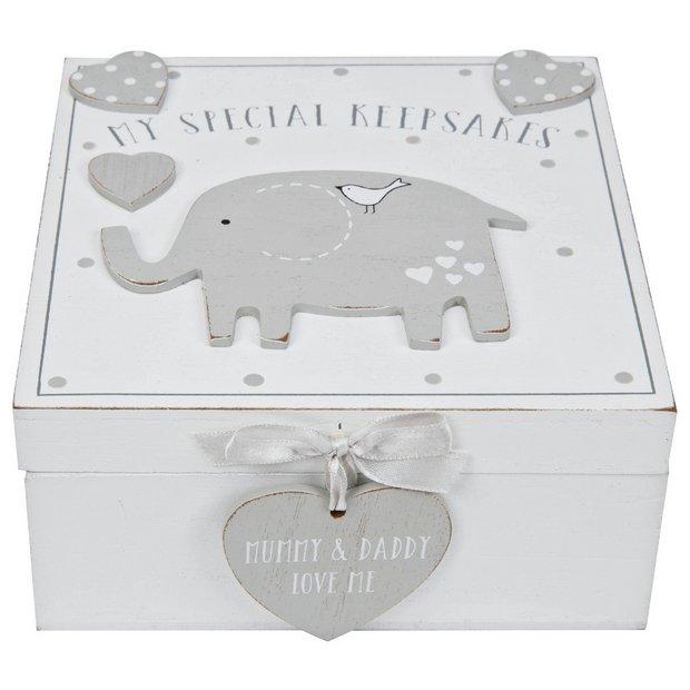 Buy Petit Cheri Baby Elephant Keepsake Box Keepsake Boxes Argos