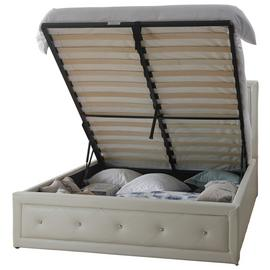 Hollywood Ottoman Kingsize Bed Frame - White