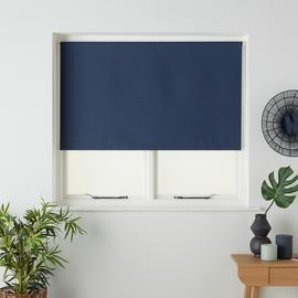 Argos Home Blackout Insulating Roller Blind - Indigo