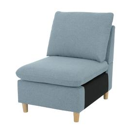 Habitat Mod Fabric Armchair without Arms - Blue