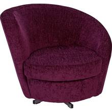 HOME Tilly Fabric Chair - Grape