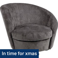 Argos Home Tilly Fabric Swivel Chair - Grey