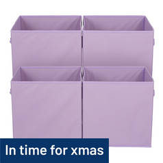 Argos Home Pack of 4 Canvas Box