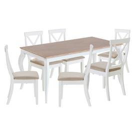 Argos Home Southwold Oak Veneer Table & 6 Two Tone Chairs