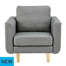 Hygena Remi Fabric Chair in a Box - Natural