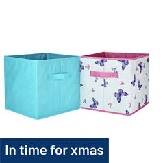 Argos Home Pack of 4 Canvas Boxes - Butterfly
