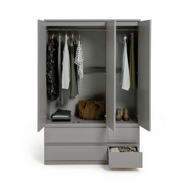 Argos Home Jenson 3 Door 4 Drawer Gloss Wardrobe