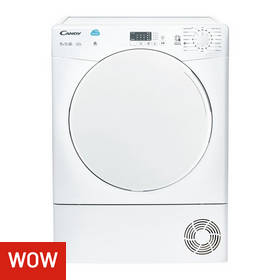 Candy CSC9LF 9KG Sensor Dry Condenser Tumble Dryer - White