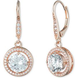 Anne Klein Rose Gold Colour Cubic Zirconia Drop Earrings