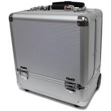 Silver Medium Portable Trolley Case