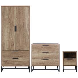 Argos Home Nomad 3 Piece 2 Door Wardrobe Set - Oak Effect
