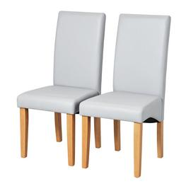 Argos Home Pair of Skirted Dining Chairs - Grey