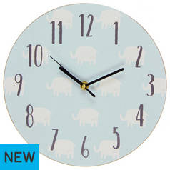 Petit Cheri Blue Elephant Wall Clock