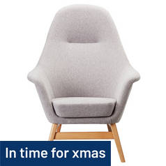 Argos Home Reuben Fabric Chair - Light Grey