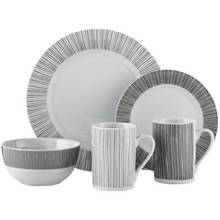 Argos Home Linear Stripe 16 Piece Dinner Set