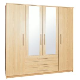 Argos Home Normandy 4 Door 3 Drawer Mirrored Wardrobe