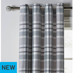 Argos Home Inverness Lined Eyelet Curtains