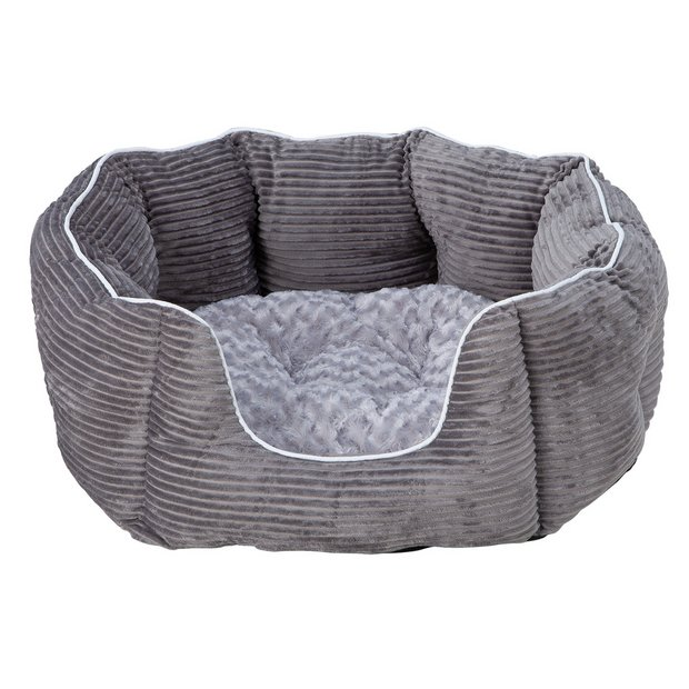 Surprising Buy Grey Cord Oval Pet Bed Extra Large Dog Beds Argos Evergreenethics Interior Chair Design Evergreenethicsorg