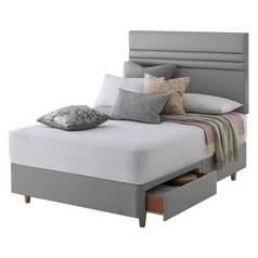Silentnight Roma Grey Divan Bed - Double