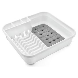 Addis Dish Drainer - White and Grey