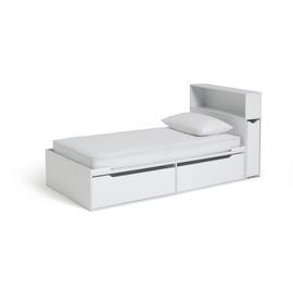 Argos Home Lloyd White Cabin Bed, Headboard & Kids Mattress