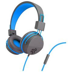 JLab Neon On-Ear Headphones - Grey/ Blue