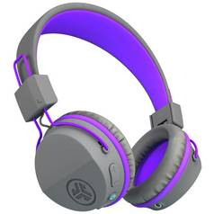 JLab JBuddies Kids Wireless Headphones - Grey/ Purple