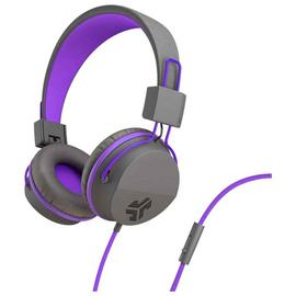 JLab JBuddies Kids Headphones - Grey/ Purple