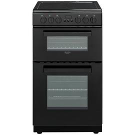 Bush DHBEDC50B 50cm Double Oven Electric Cooker - Black Best Price, Cheapest Prices