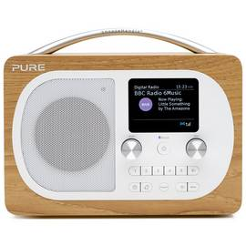 Pure Evoke H4 Portable DAB+ FM Radio - Oak