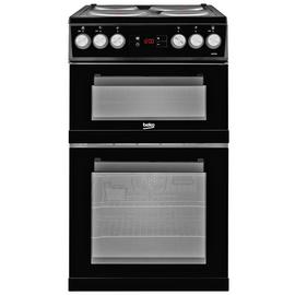 Beko KDV555AK 50cm Twin Oven Electric Cooker - Black Best Price, Cheapest Prices