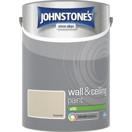 Johnstone's Wall & Ceiling Paint Silk 5L - Seashell