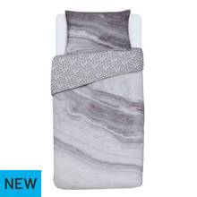 Argos Home Grey Marble Bedding Set - Single