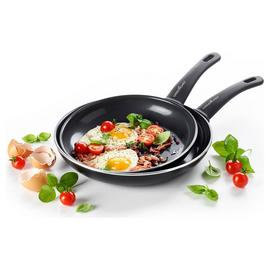 GreenChef Soft Grip 24 and 28cm Frying Pan Set - Black