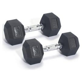 Men's Health Rubber Dumbbell Set - 2 x 10kg