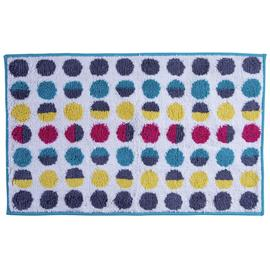 Argos Home Bath Mat - Spots